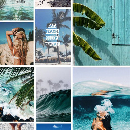 freetoedit beachtime beach collage blueaesthetic ccsummermoodboard summermoodboard #summertime