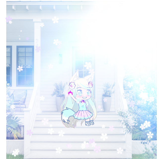 This is me sitting outside! This makes a perfect profile! Feel free to edit this and make it ur own design! #gachagirls