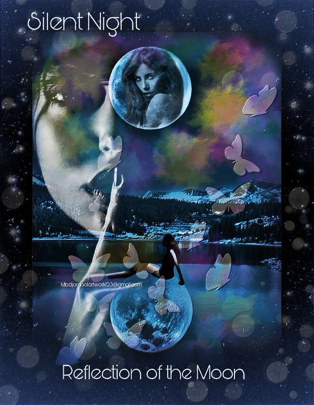 @madjambolartwork123 Mj.arts #mountainview #lakeside #nightsky #modelgirl #silentnight 🍁💐❤️💋❤️💐🍁