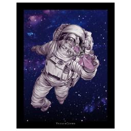 astronut pictureinpicture portrait starry freetoedit