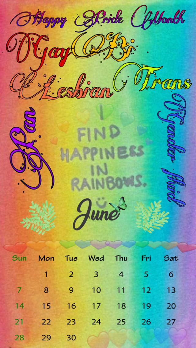 🏳️🌈Open up! It's Pride Month! 🏳️🌈  🏳️🌈#june #pridemonth #pridemonth2020 #2020 #loveislove #love #rainbowhearts #rainbows #hearts #calendar #happiness #gay #lesbian #bi #pan #trans #genderfluid #pride #find #calendarchallange 🏳️🌈 #freetoedit