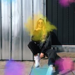 rainbowsplashbrush freetoedit rainbow colorful colors