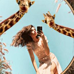 freetoedit surreal mirrorselfie outdoor surrealism ircgirlinamirror