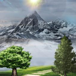 freetoedit picsart nature landscape stepbystep