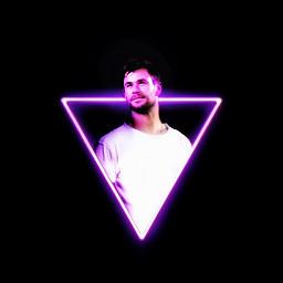 chrishemsworth marvel thor neon triangle freetoedit