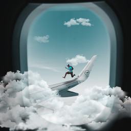 freetoedit jump guy boy airplane