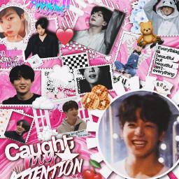 freetoedit bts jungkook pink overlay