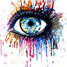 freetoedit colors eye madebyme madewithpicsart rcsplatterart splatterart