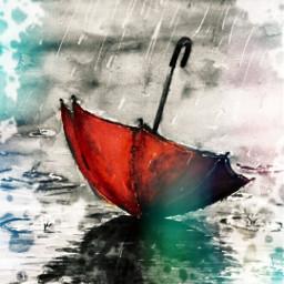 freetoedit umbrella redumbrella blackandwhite madebyme rcsplatterart splatterart