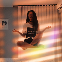 goldenhour rainbow meditation yoga magic rcgoldenhour freetoedit