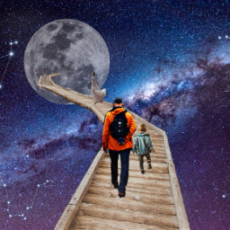 freetoedit galaxy hopeyoulikeit moon nightsky