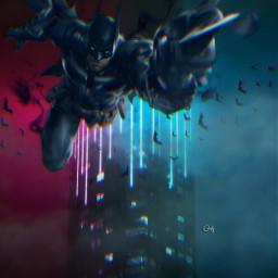 freetoedit manipulation madewithpicsart superhero batman ecneoncity neoncity