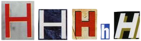 freetoedit h newspaper letters recortes