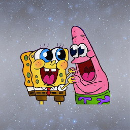 freetoedit bestfriends patrickstar spongebob nickelodeon