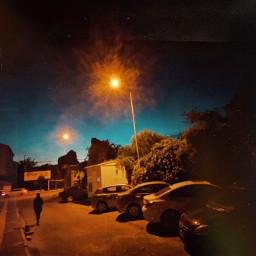 night street dark twilight streetlight