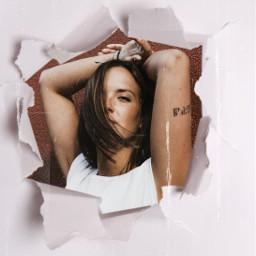 freetoedit girl rcrippedpaper rippedpaper