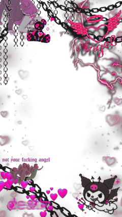 freetoedit pink overlay kuromi manga