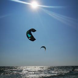sea kitesurf kitesurfing sun normality