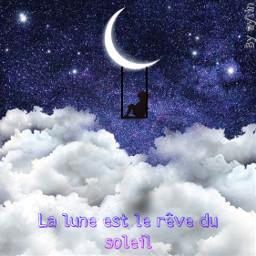 freetoedit lune moon nuage cloud