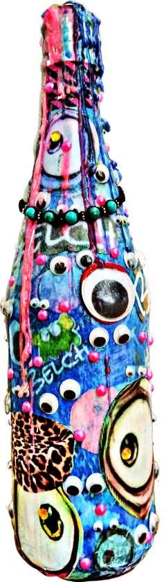freetoedit decorativebottle decoupage monsterbottle bottle