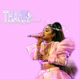 arianators arianagrde thankyounext pink halo freetoedit