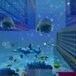 freetoedit manipulation madewithpicsart surreal underwater