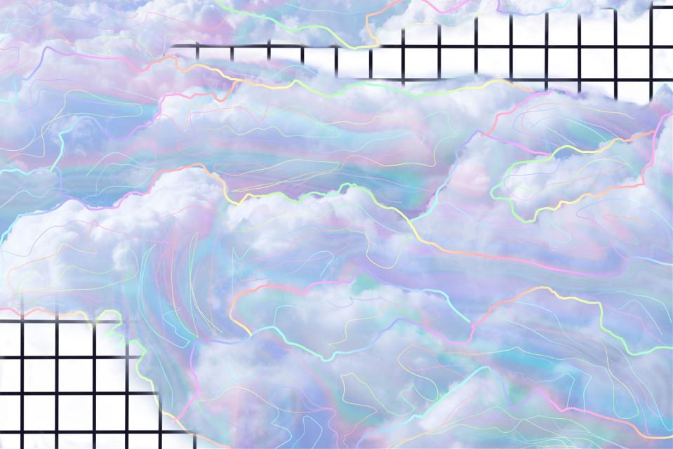 #freetoedit #mashup #background #grid #blackandwhite #pastel #clouds