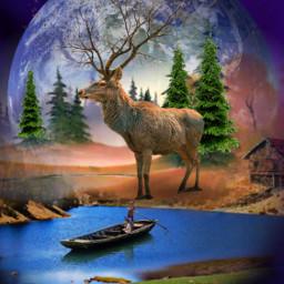 freetoedit deer fantasyart myedit madewithpicsart stickersfreetoedit