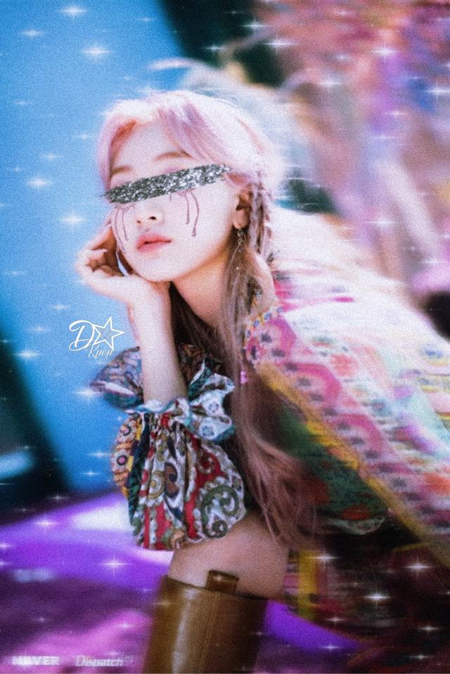 Twice- Jihyo  #freetoedit #twice #jihyo #replay #glitter #glitch
