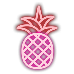 neon pineapple red fruits fruit freetoedit