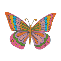 freetoedit butterfly 70s 70saesthetic aesthetic
