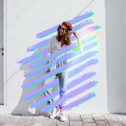 freetoedit holographic colors purpleaesthetic lines