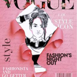 freetoedit magazinecover voguecover girl ircoutlinegirl outlinegirl