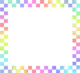 freetoedit rainbow checkered borders frame
