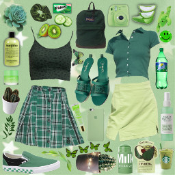 green aesthetic y2kfashion collage brandymelville freetoedit