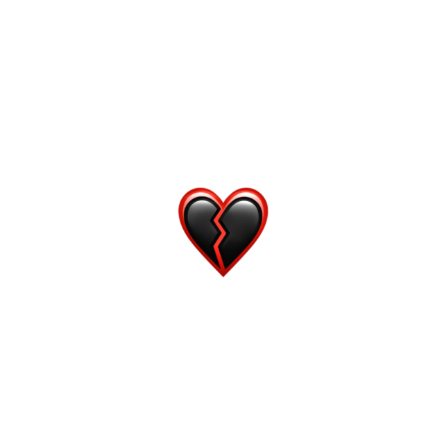 #black #red #emoji #broken #heart #✨🖤❤️💔✨