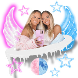 twins rybkatwins dripedit angel pinkandblue freetoedit