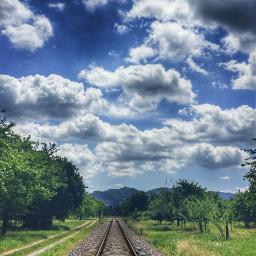 freetoedit photography picsartfilters railway clouds