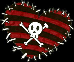 freetoedit emocore red skull sketch
