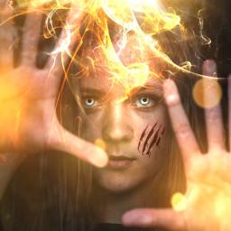freetoedit fire power energy powergirl