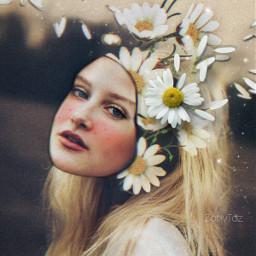 freetoedit flowers daisies faceart editedbyme