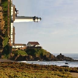 freetoedit lighthouse ocean shoreline foldedlandscape