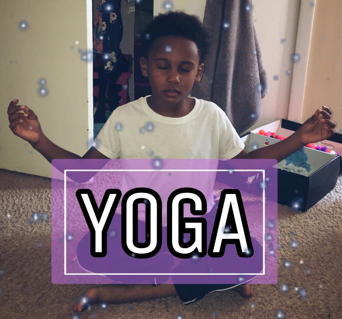 My lil bro doing #yoga  #freetoedit