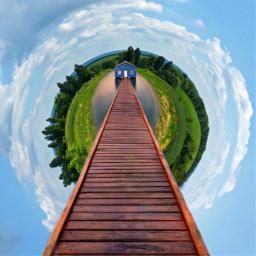 freetoedit solitude tinyplanet house bridge