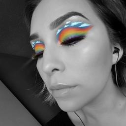 rainbow rainbowmakeup colurfull eccolorpop colorpop colorsplash