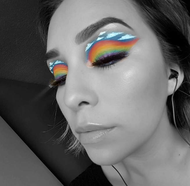 #rainbow #rainbowmakeup #colurfull