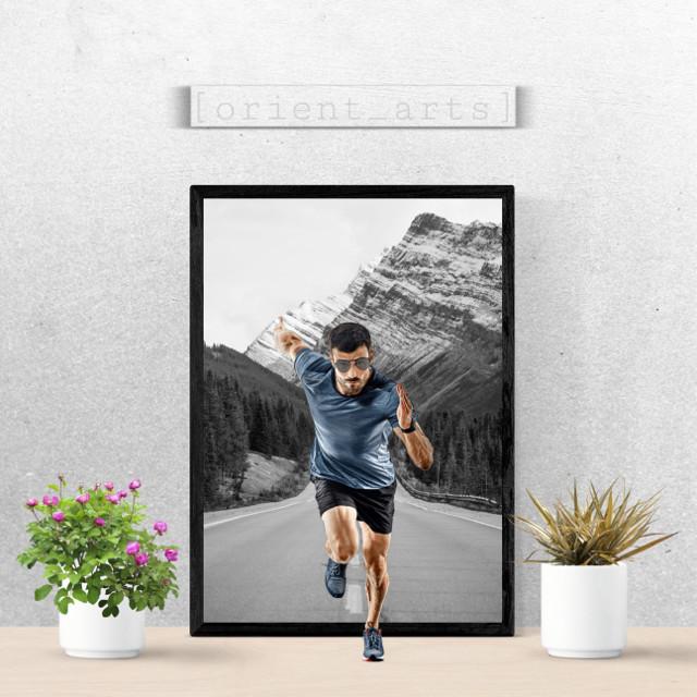 #freetoedit #papicks #athlete #picture #frame #blackandwhite #3d #wall #picsart @picsart