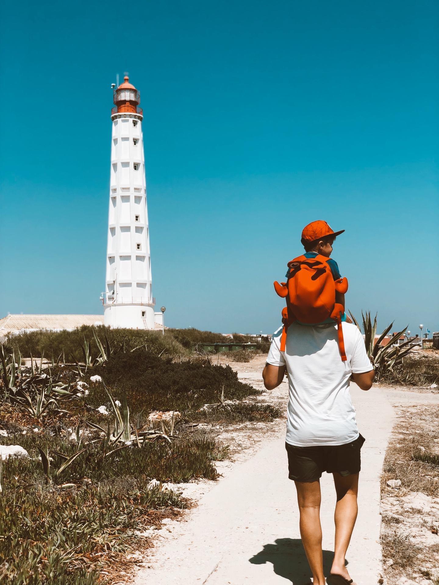 #fathersday #happyfathersday #fatherandson #familyties #pathway #lighthouse #summertime #warmweather #brightsunnyday #bigbluesky #wildplants #sunnylightan