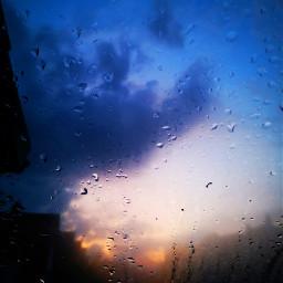 freetoedit sunset waterdrops raindrops myphoto