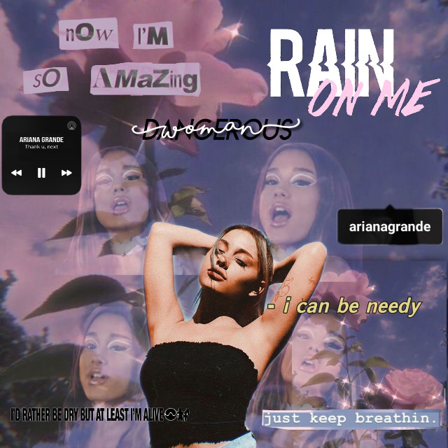 I actually really like this! Please like and share bc i have 0 followers😢 #arianagrande #ariana #rainonme #dangerouswoman #breathin #thankunext #freetoedit #picsart